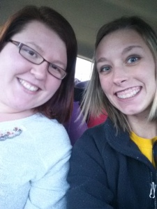 Car trip to Iowa with Miranda!